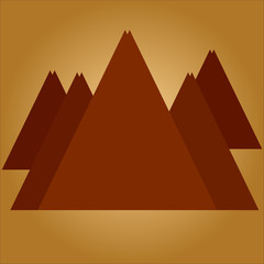 Mountains on coffee background
