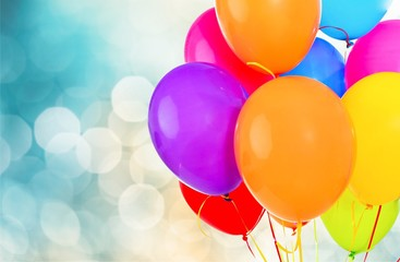 Colorful balloons on background