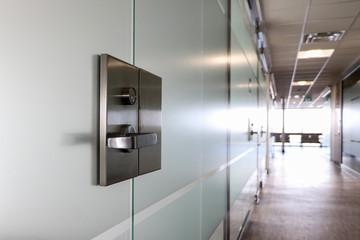 Glass Door in Office Building