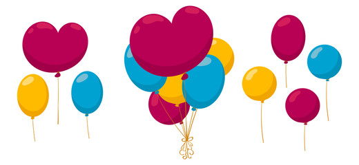A bunch of colourful balloons