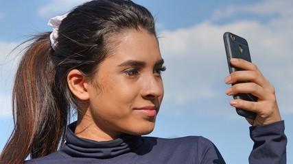 Selfie Of Hispanic Teen Girl