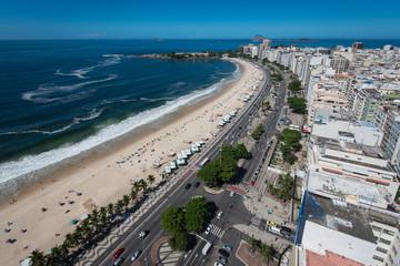 View of the Famous Copacabana Beach in Rio de Janeiro, Brazil