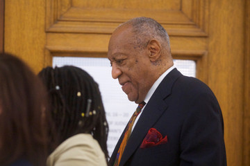 Actor and comedian Bill Cosby walks through the Montgomery County Courthouse during his sexual assault retrial in Norristown
