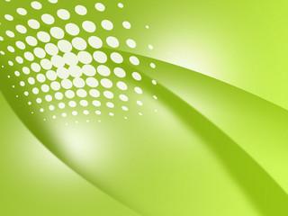 曲線 抽象 アブストラクト グリーン ドット