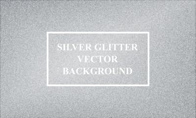 Silver bling bling glitter vector background