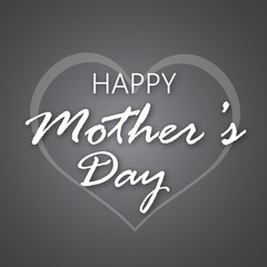 Happy Mother's Day greeting card design. Vector illustration