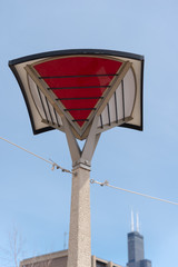 Big lamp in a Chicago city park