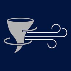 hurricane symbol icon vector