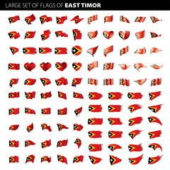 east timor flag, vector illustration