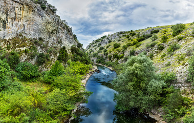 Gorge of the river Angitis, also known as Angista and Dramatitsa is a tributary of the River Strymonas in Northern Greece