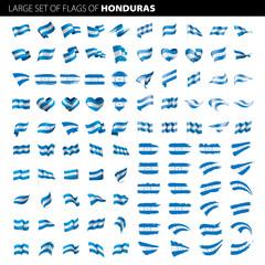 Honduras flag, vector illustration