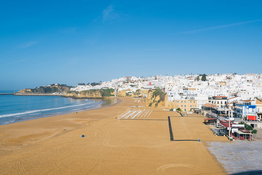 Panoramic, view of the Old Town of Albufeira City in Algarve, Portugal.
