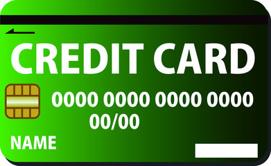 Green CREDIT CARD with Gradation pattern