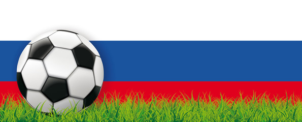 Football Side Grass Russian Flag Header