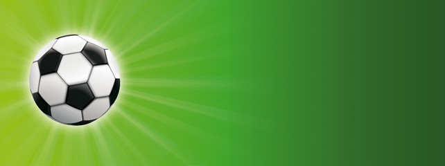 Classic Football Sunbeam Green Background Header