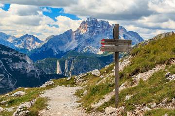 Blick zur Hohe Gaisl in den Sextner Dolomiten, Südtirol Italien_005