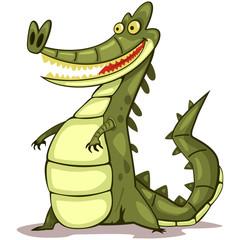 Alligator animal cartoon vector illustration isolated on white background.
