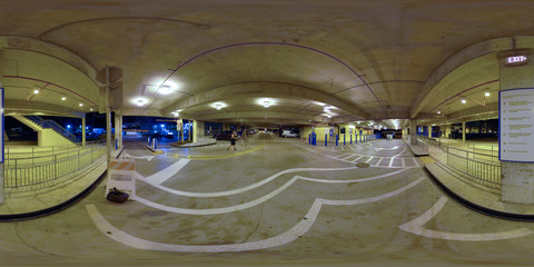 360 spherical image parking garage