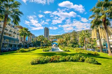 Park at the Place du Casino. Monte Carlo, Monaco