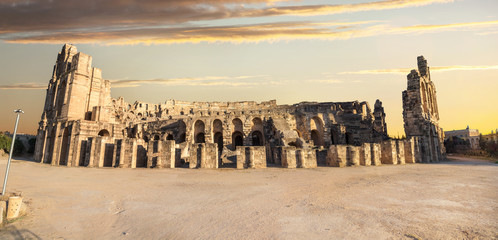 El Djem Colosseum amphitheater. Tunisia, North Africa