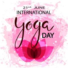 International day of yoga concept