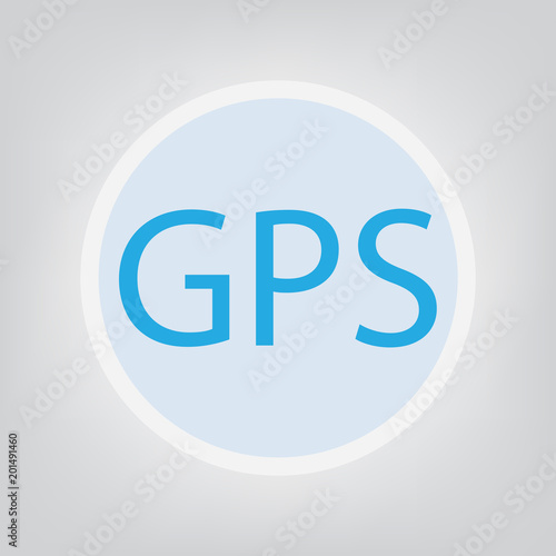 gps global positioning system acronym vector illustration stock