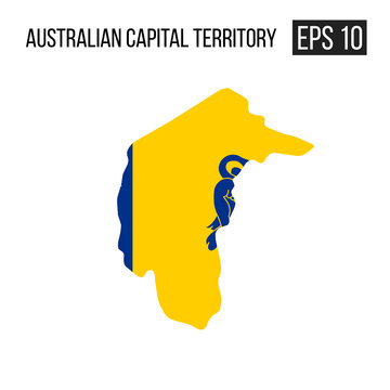 Australian capital territory map border with flag vector EPS10