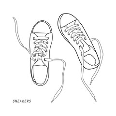illustration of shoes isolated on white