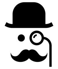 Gentleman with monocle icon