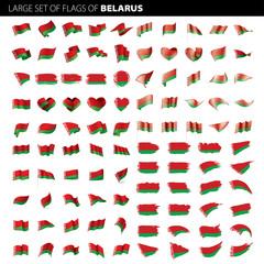 Belarus flag, vector illustration