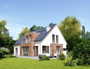 Einfamilienhaus 18 mit Holzelementen