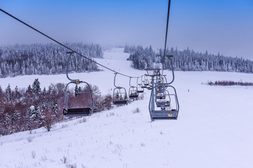 chair lift on the ski resort