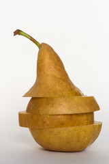 Pear Sliced and Stacked