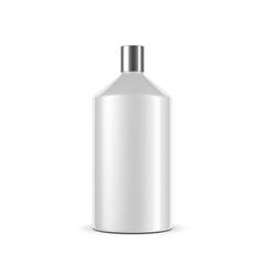 White bottle Mockup with metal cap, 3d rendering