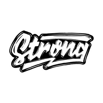 strong hand lettering typography