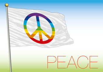 peace flag and symbol