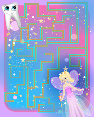 An interesting board game for children is a maze.