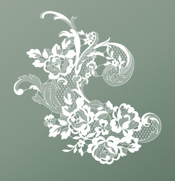 lace flower element