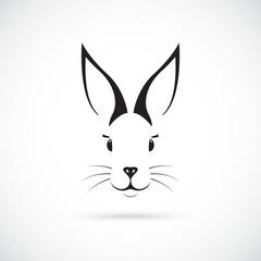 Cute Bunny with big ears. Vector illustration.