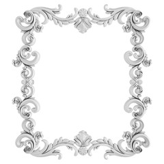 White ornament on a white background. Isolated