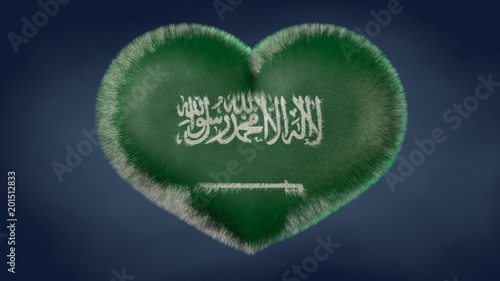 Cuore Bandiera Dellarabia Saudita Stock Photo And Royalty Free