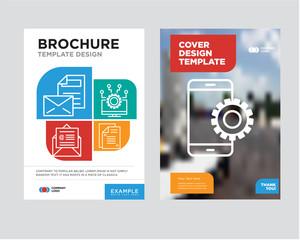 Setup brochure flyer design template
