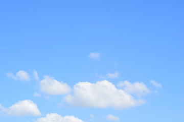 could and blue sky background
