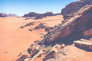Sand-dunes in Wadi-Rum desert, Jordan, Middle East