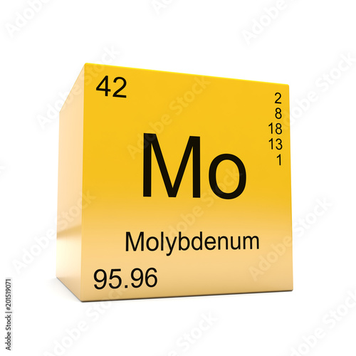 Molybdenum Chemical Element Symbol From The Periodic Table Displayed