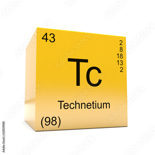 Technetium chemical element symbol from the periodic table displayed technetium chemical element symbol from the periodic table displayed on glossy yellow cube urtaz Images