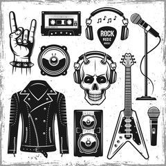 Hard rock and metal music attributes elements