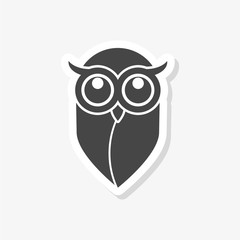 Owl sticker, Owl logo, Owl illustration, simple vector icon