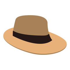 Summer hat isolated vector illustration graphic design