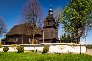 Fototapeta Kościół drewniany we wsi Barwałd Dolny, Polska obraz
